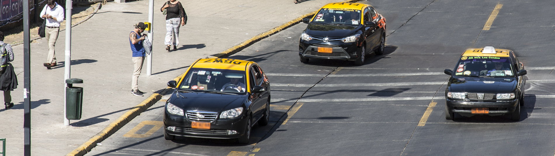Taxis in Santiago